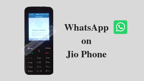 Downloading WhatsApp on Jio Phone