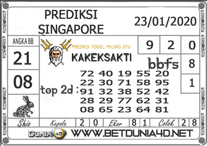 PREDIKSI TOGEL SINGAPORE DUNIA4D 23 JANUARI 2020