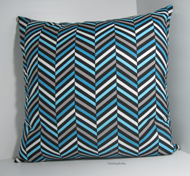 Buying the right size cushion or pillow insert to make a cushion that is nice and plump and sits well ~ Threading My Way