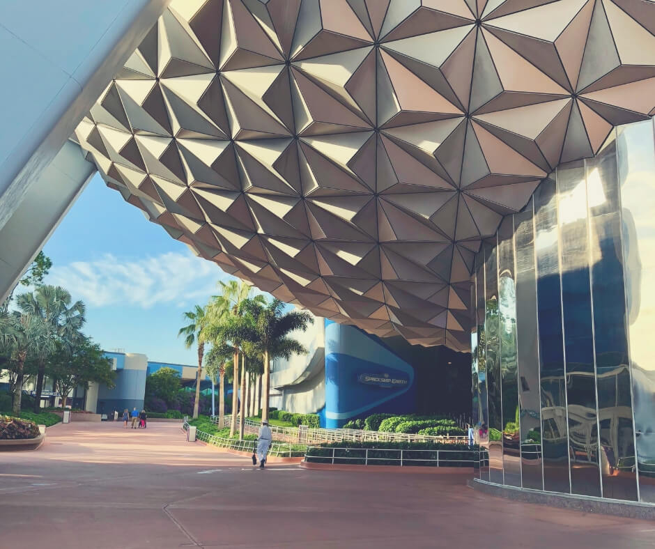 Top 7 Things To Do At Epcot, Walt Disney World | The entrance to Spaceship Earth, with no queue.