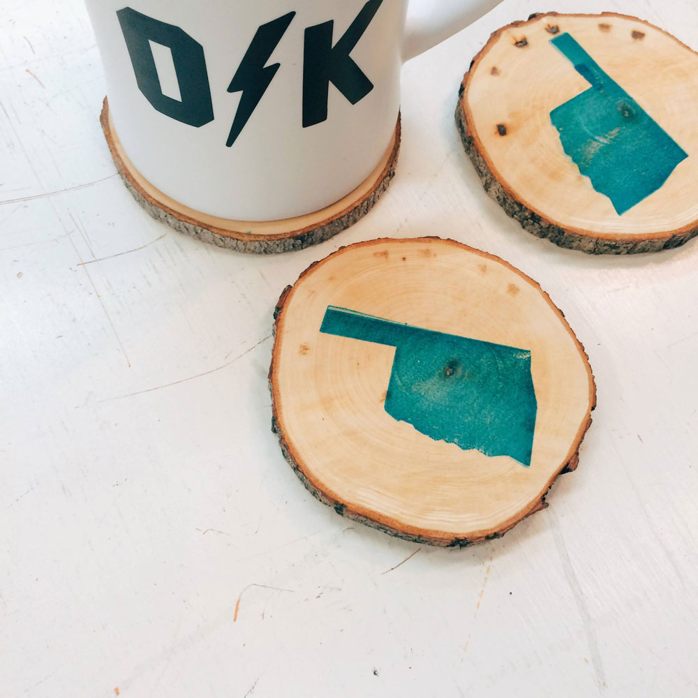 okc mug and coaster