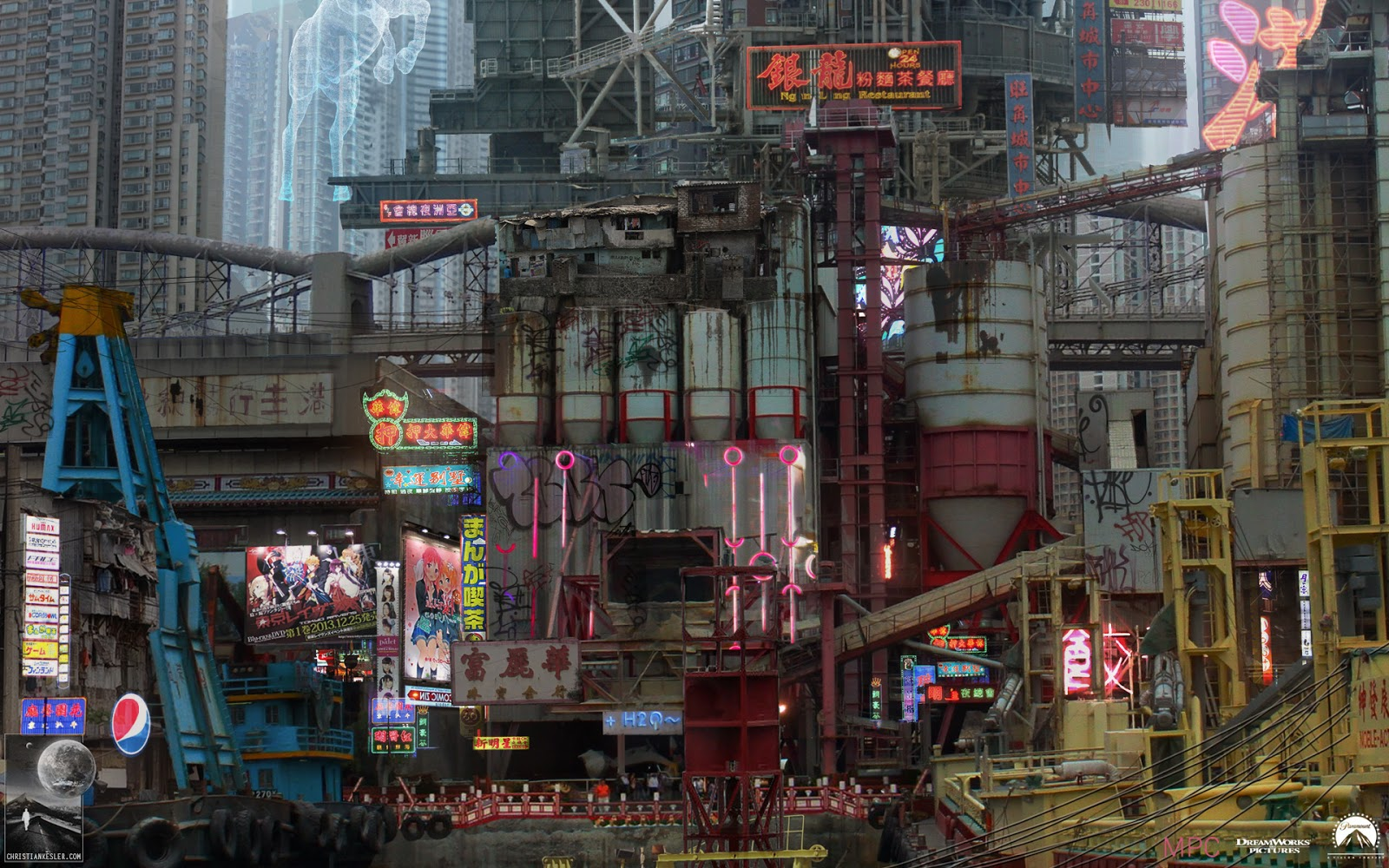 Ghost In The Shell Concept Art By Chris Kesler Computer Graphics Daily News