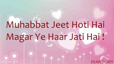 dear diary urdu poetry, love quotes, thoughts and silent words 7