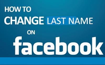 Change Last Name on Facebook