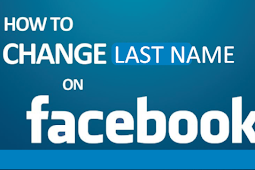 How do I change my last name on Facebook?