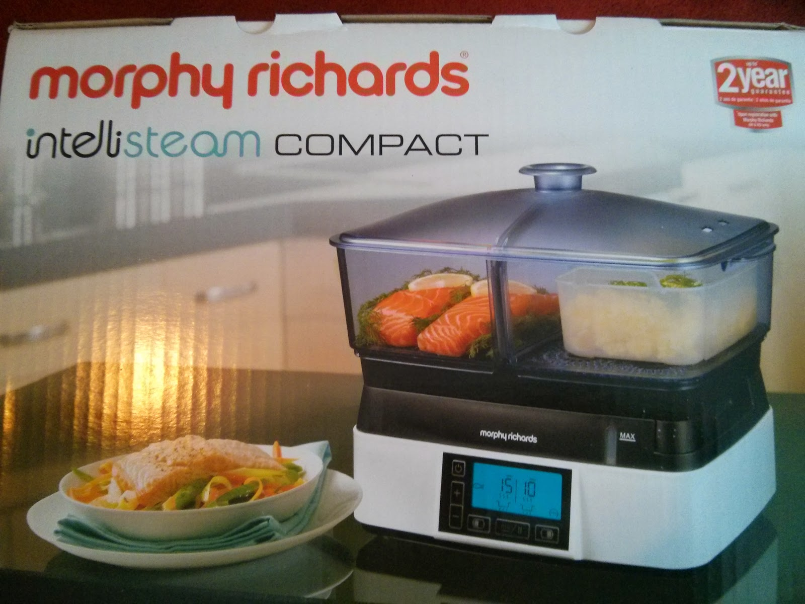 The Morphy Richards Compact Intellisteam Food Steamer box