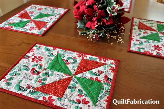 holiday Pinwheel Placemats