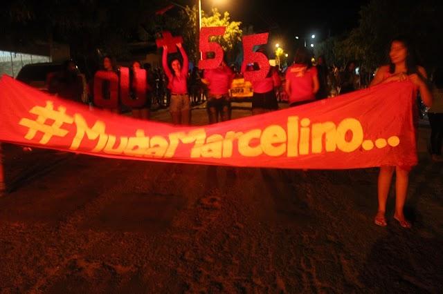 Oposição realiza a maior vigília da história de Marcelino Vieira.
