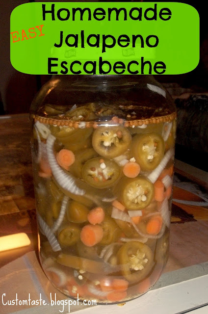Homemade Jalapeno Escabecha by Custom Taste