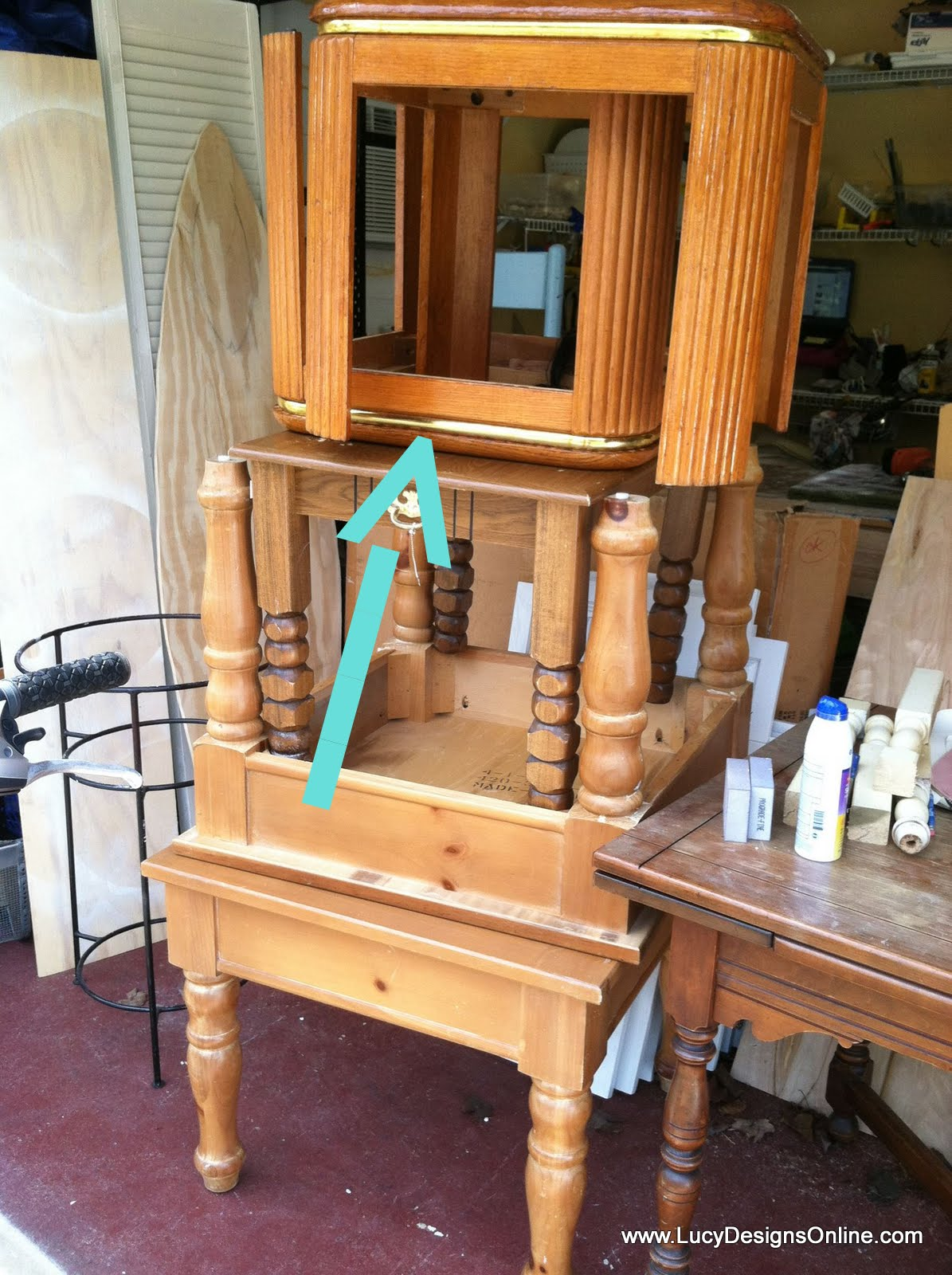 Hand Made Dog Bed from an End Table Glam dog bed   Lucy ...