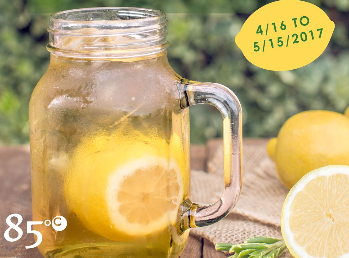 Ends May 15 | Bogo 50% Off New Lemon Green Tea From 85 Degrees Bakery
