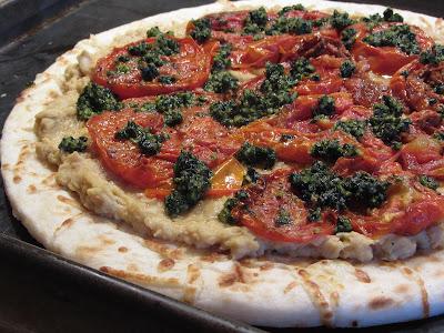 ... Cookbook: Tuscan White Bean Pizza with Roasted Tomato Aioli - Vegan