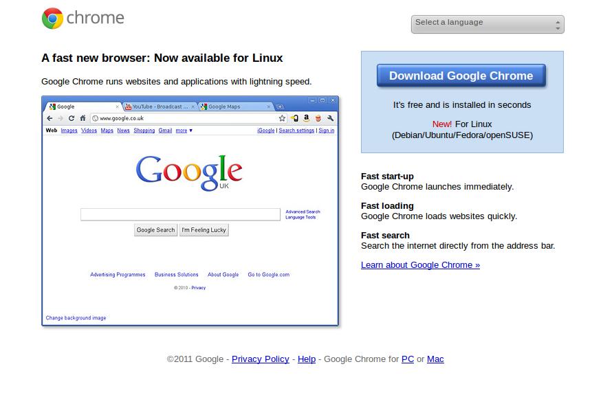 Start Using Ubuntu: Install Google Chrome on ubuntu 11 10