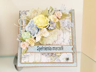 Kartka urodzinowa pełna kwiatów