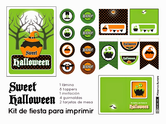 kit de fiesta imprimible halloween