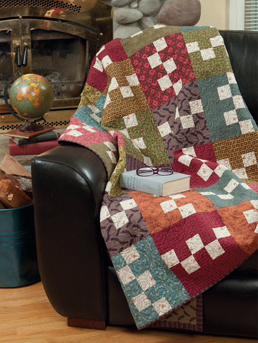 Buttercream Twist Quilt Free Pattern designed by Kim Diehl and Laurie Baker