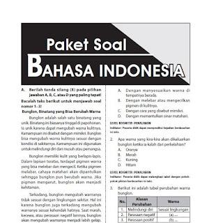 Latihan Soal USBN SD Bahasa Indonesia Beserta Kuncinya