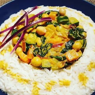 recette facile végétarienne sans lactose sans gluten riz lait de coco curry