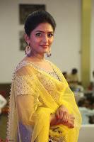 Actress Eesha in Yellow Choli Blue Ghagra at Darshakudu music launch 013.JPG
