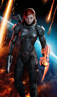 "Femshep, voiced in-game by Jennifer Hale, also known for her work on ""Metroid Prime"" (Samus Aran), ""Wolverine and the X-Men"" (Jean Grey), and ""Star Wars: Knights of the Old Republic"" (Bastila Shan)"
