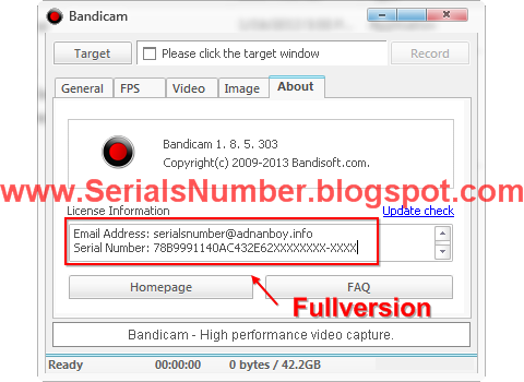 bandicam email and serial key