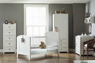 dormitorio bebé blanco gris