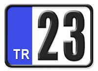 23 Elazığ plaka kodu