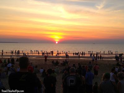 Coucher de soleil à Mindil Beach, Darwin en Australie