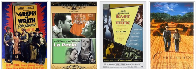 Filmografia basada en l'obra de John Steinbeck