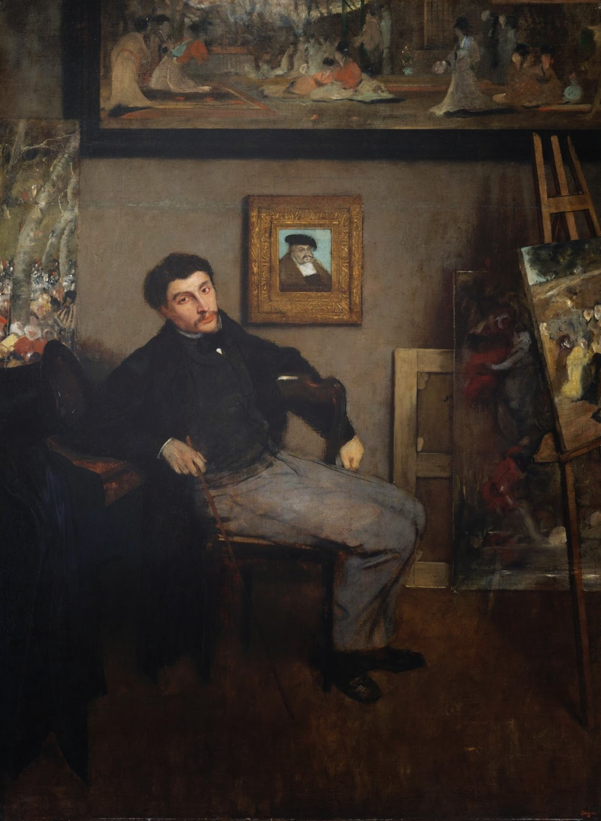 Edgar  Degas     Portrait  of  James  Tissot C