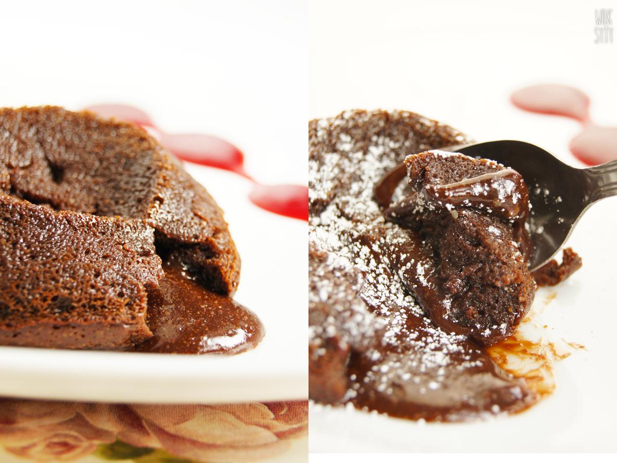 przepis, molten lava, deser czekoladowy, płynny deser, ciasteczko czekoladowe