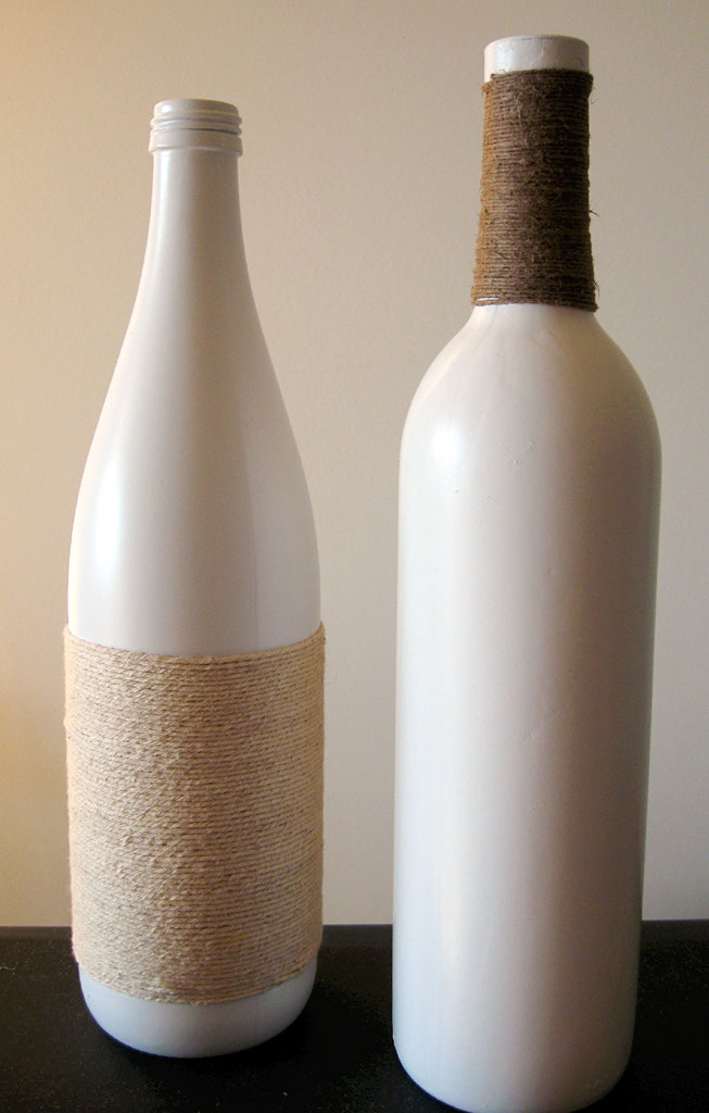 ... beauty on a budget}: I Don't Recycle - I Decorate....With Wine Bottles