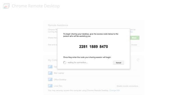 Απομακρυσμένος έλεγχος υπολογιστή από ένα πρόσθετο στο Google Chrome