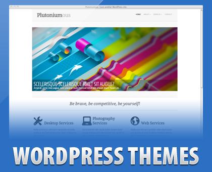 Free Plutoniumous Clean Straightforward Design WordPress Theme