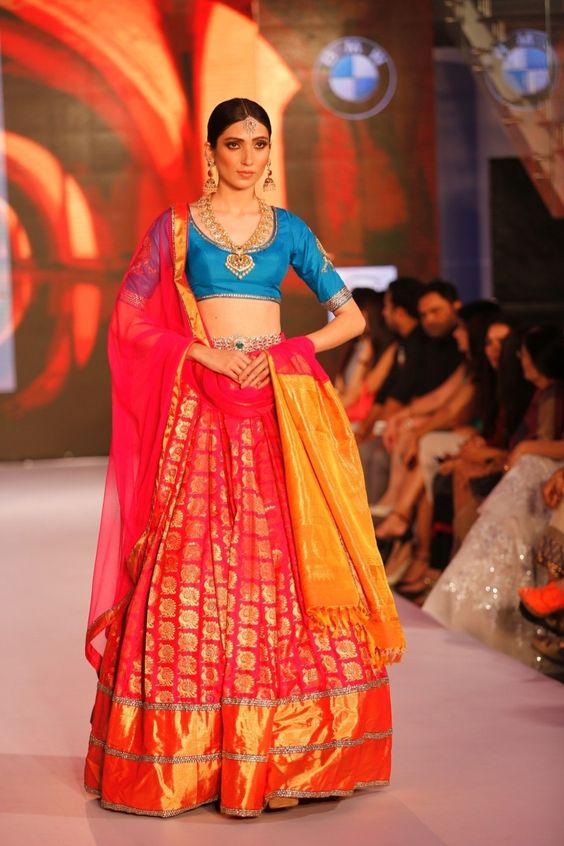 Sparkling Fashion Kanjeevaram Banaaras Ikat Wedding