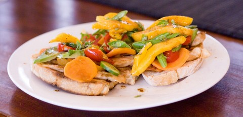 Honey and Soy Chicken Fillets with Sweet Potatoes and Avocado