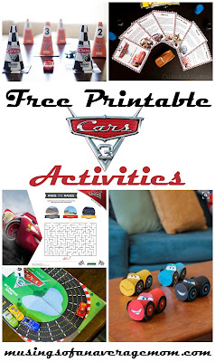 free printable cars 3 activities