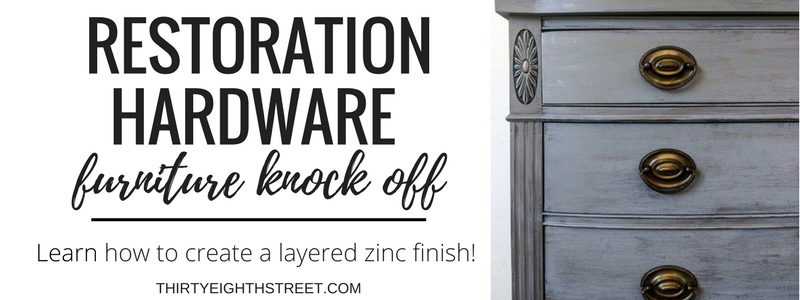 painted furniture, layering paint, painted dresser, restoration hardware knockoff, furniture makeover ideas, grey painted furniture