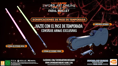 "Ediciones Especiales de ""Sword Art Online: Fatal Bullet"" para Xbox One y PC."