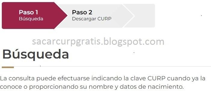 Busqueda de CURP