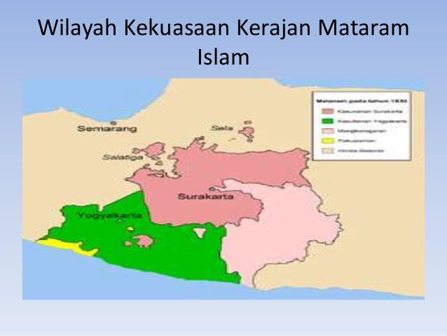 Pembagian wilayah Kerajaan Mataram Islam