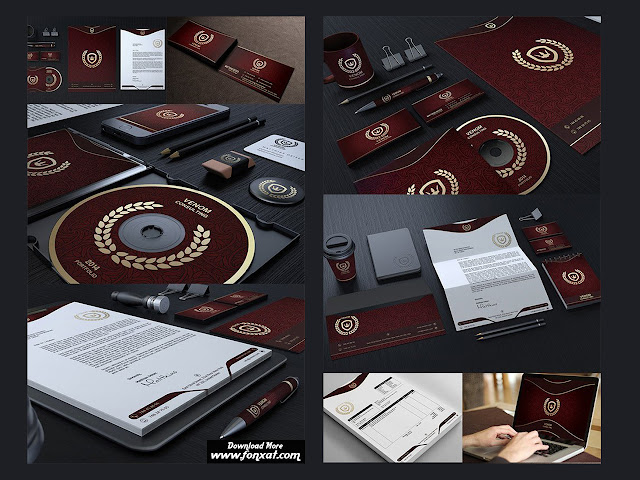 Gold And Red Corporate Identity 100486