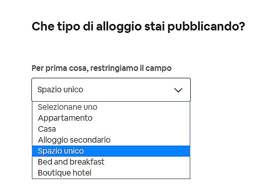 airbnb inserire un annuncio