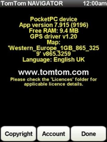 Tomtom map Western Europe 1GB 865 3259 released Feb 2011 ~ Free
