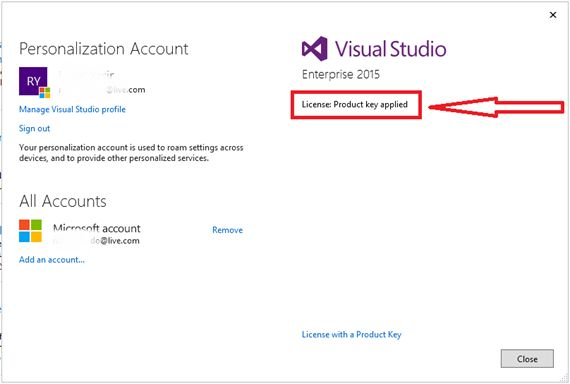 MS Visual Studio 2015 Product Key