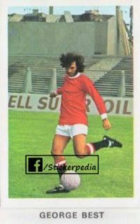 George Best Manchester United sticker FKS 1972 73