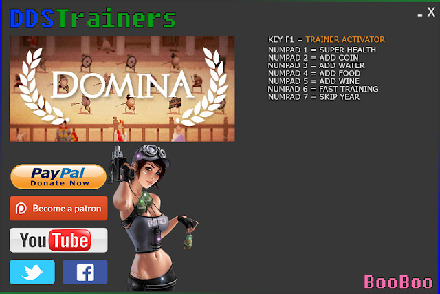 Domina Trainer and Cheats for PC