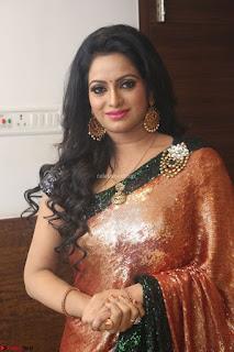 Udaya Bhanu lookssizzling in a Saree Choli at Gautam Nanda music launchi ~ Exclusive Celebrities Galleries 063.JPG
