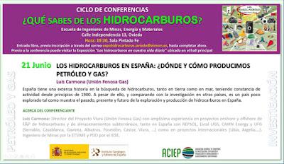 Invitación conferencia Escuela de Minas sobre Hidrocarburos