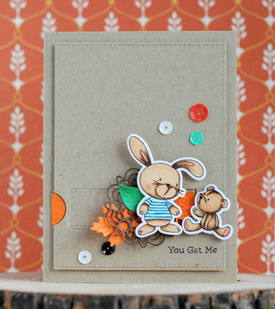 Snuggle Bunnies stamp set and Die-namics - Anna Ignatenko #mftstamps